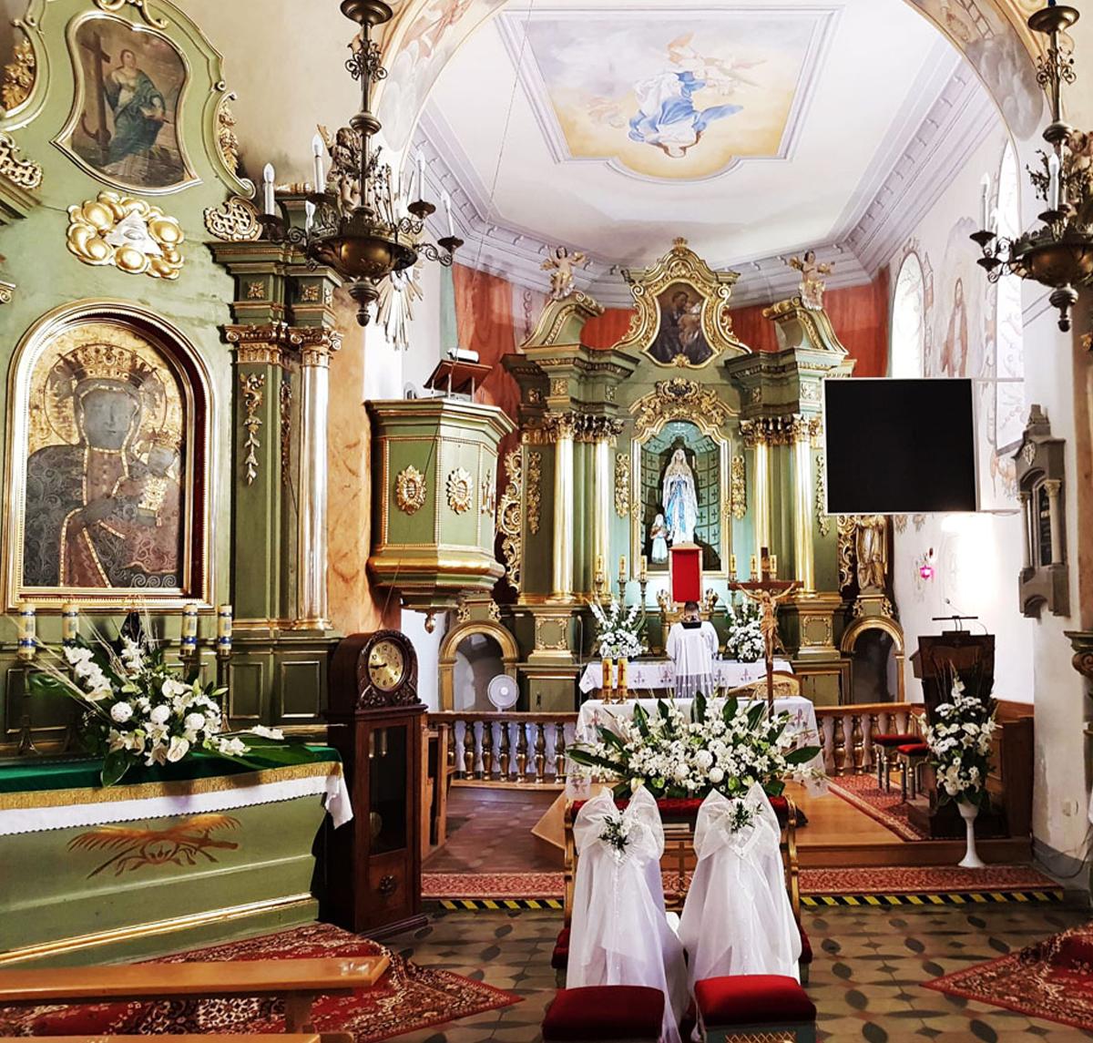 Dekoracja Kościoła Ślub
